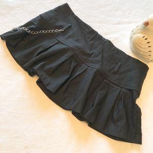 Wet Seal Black Festival Sassy skater mini skirt